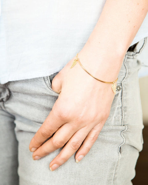 PetiteGrand - Double Wing Bracelet - Gold