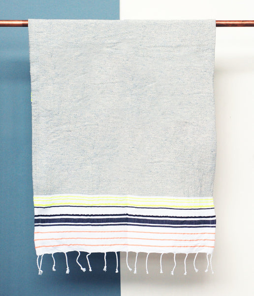 Bath Towel, Neon & Grey - Small
