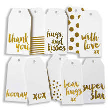 Blushing Confetti Gift Tag (GOLD FOIL)