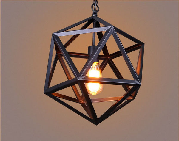 Yolmen Geometric Pendant Light - Iron