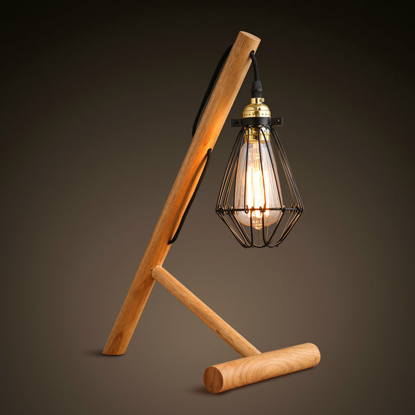 Retro Wood Table Light