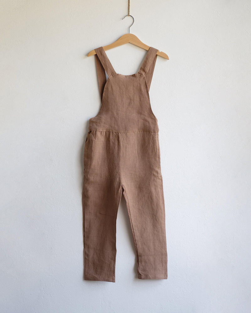 The Orson Dungarees in Toffee