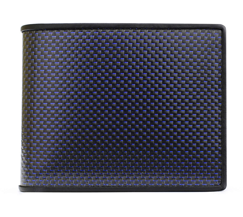 Carbon Fiber RFID Blocking Genuine Leather Wallet