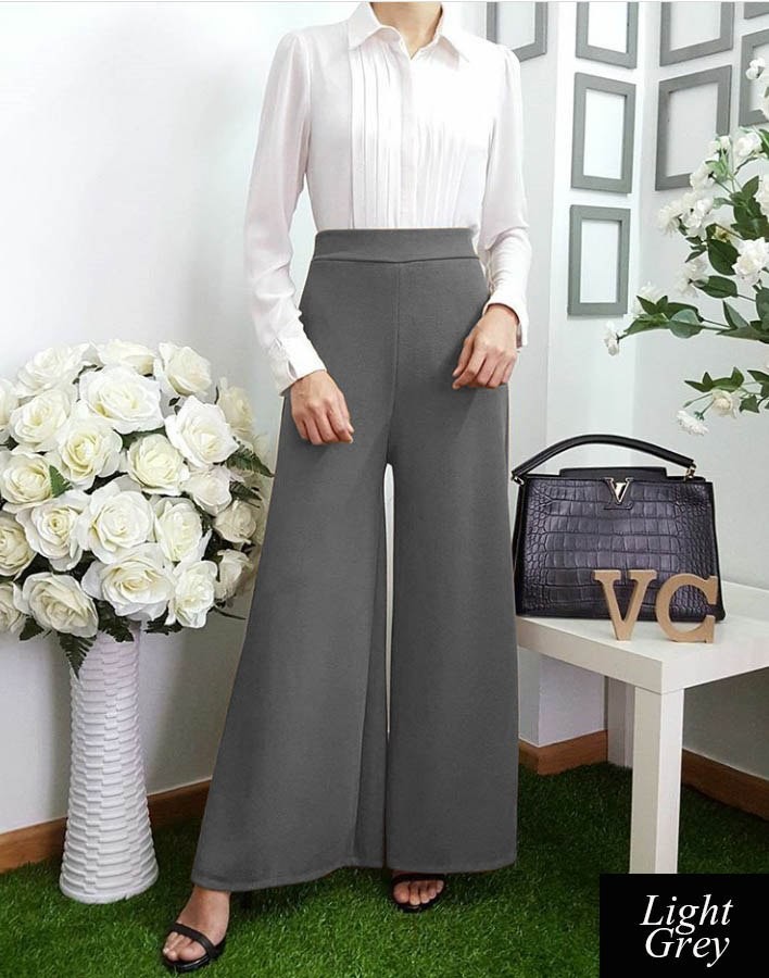 Basic Palazzo Pants II  (New IN) - Samiha Apparels