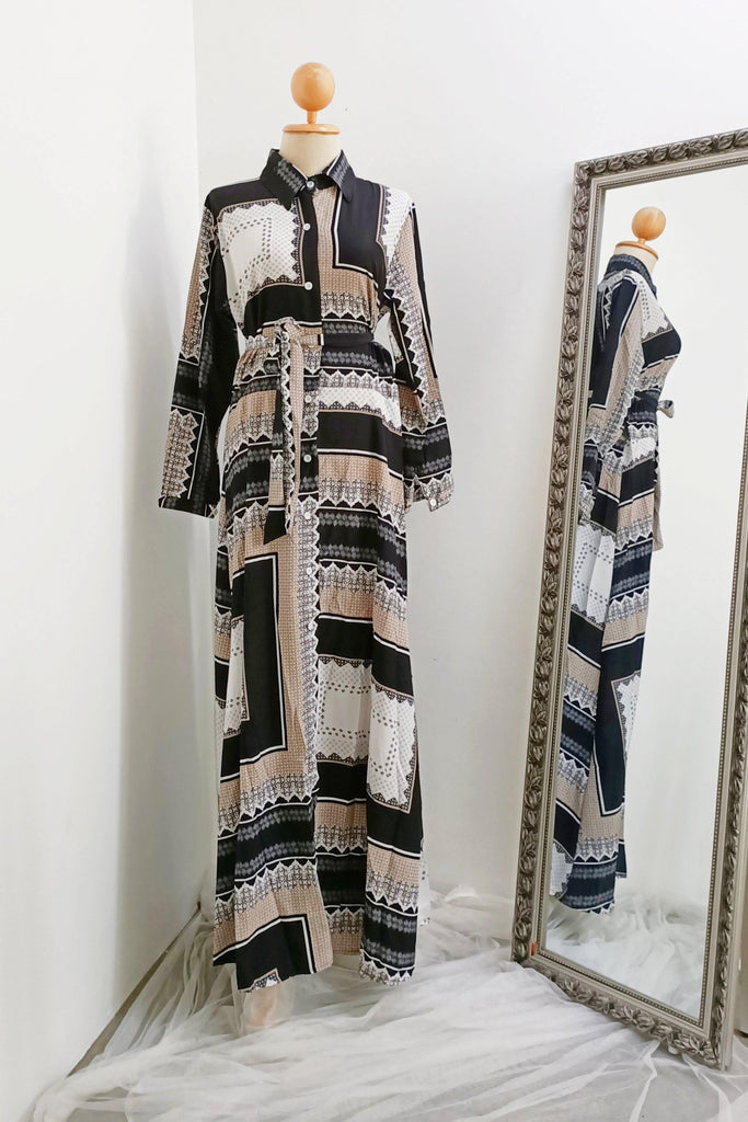 Boho Button Maxi Dress