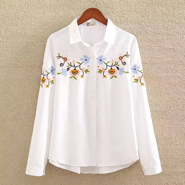 Korean Embroidered Shirts - Lisa's - Samiha Apparels