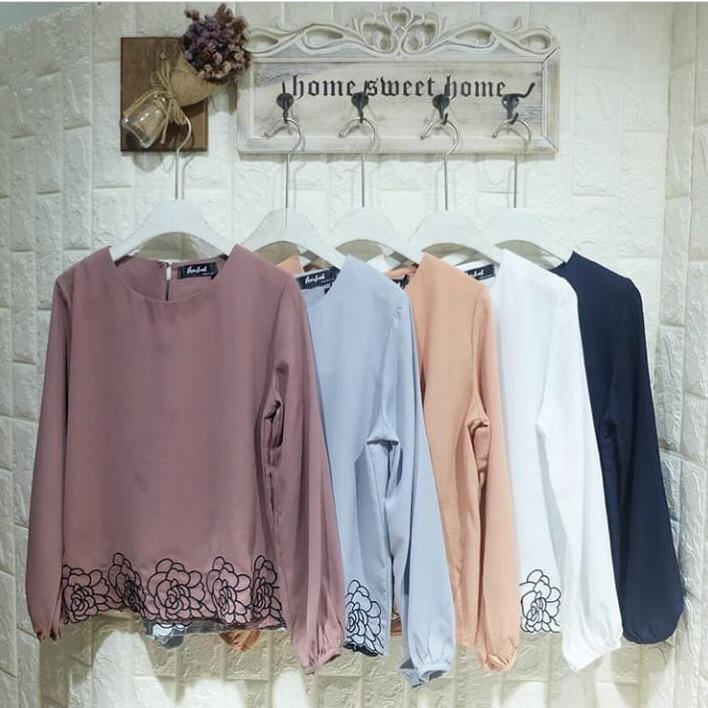Korean Embroidered Tops - Malinda - Samiha Apparels
