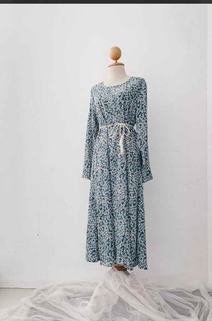 Midi Dress - Tiny Flower