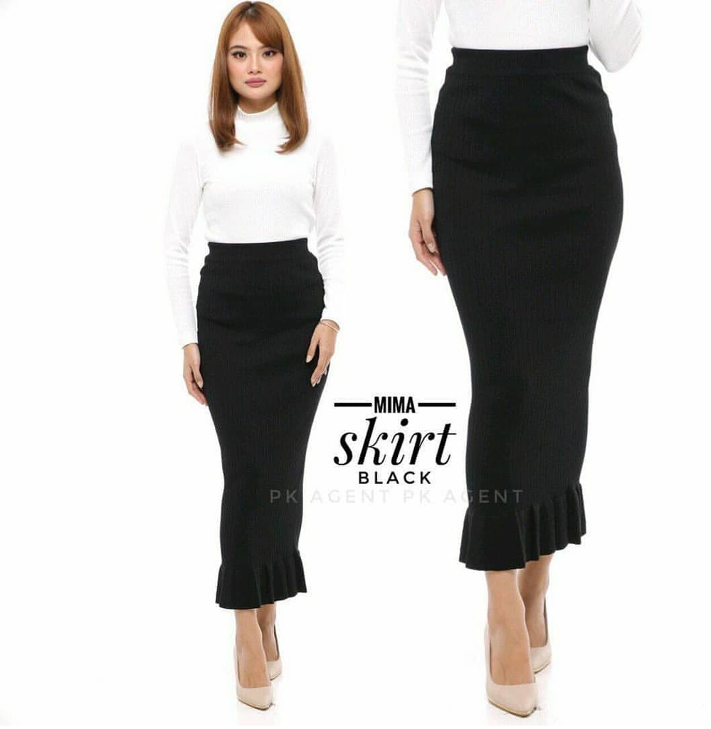 Ruffle Pencil Skirt (Instock) - Samiha Apparels