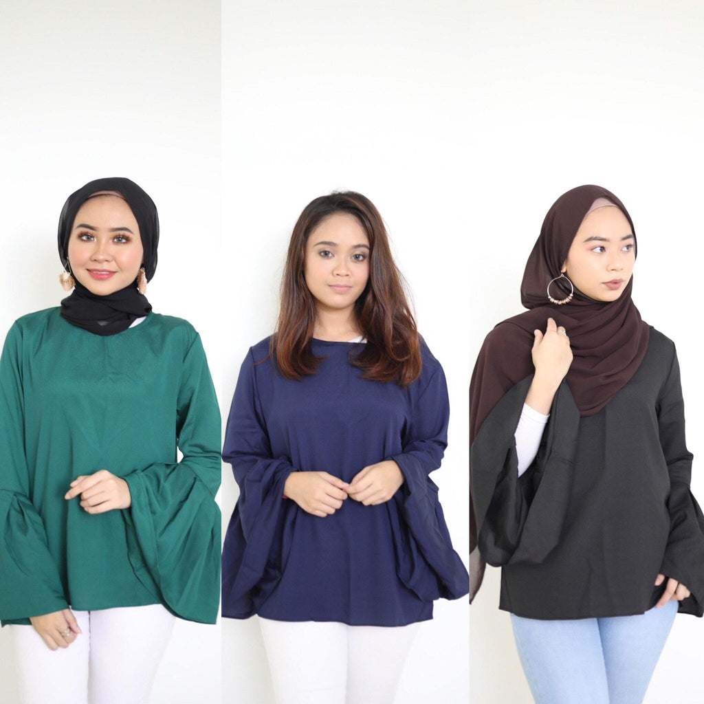 Flare Sleeves Tops - Jasmine - Samiha Apparels