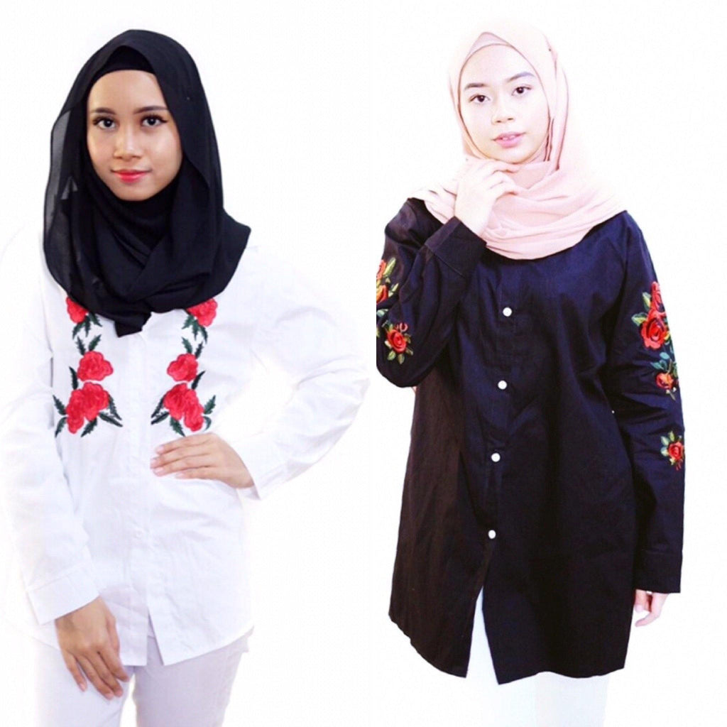 Korean Embroidery  - Nur Tops - Samiha Apparels