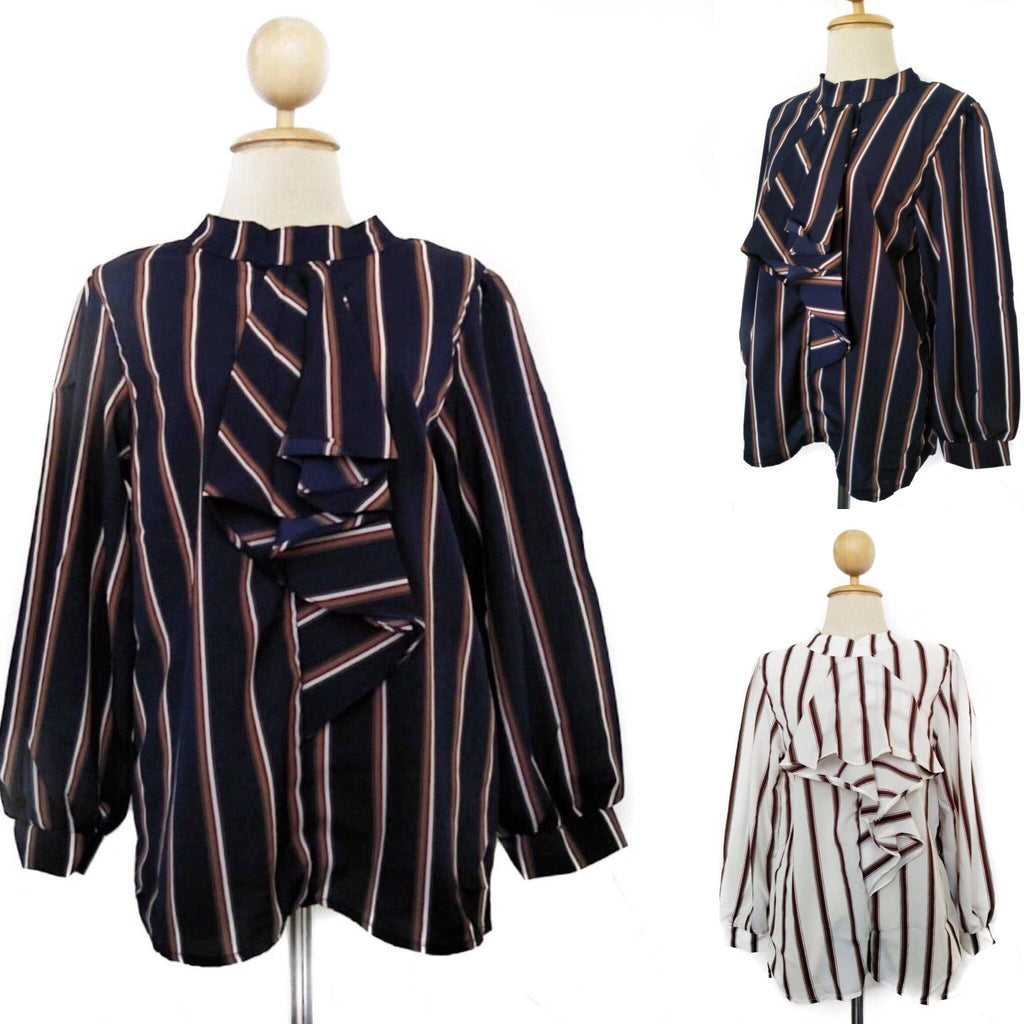 Stripe Fancy Tops - Hinana - Samiha Apparels