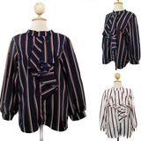 Stripe Fancy Tops - Hinana