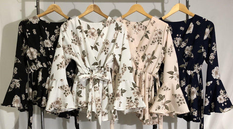 Asymmetrical Printed Tops - Blossom
