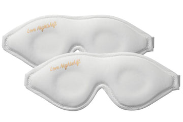 Couples/Besties Sleep Mask Pack - White