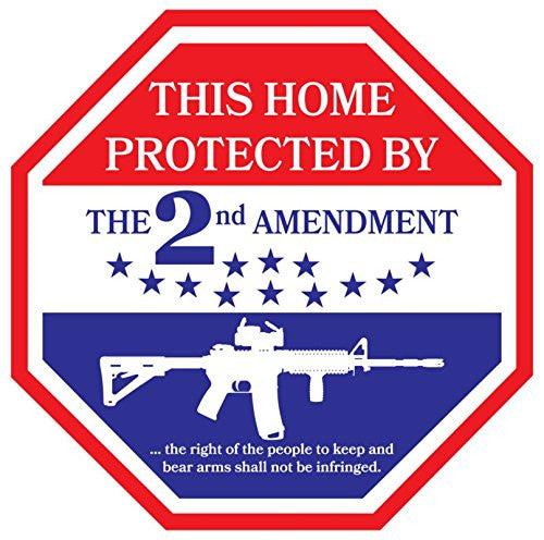 picture of 2nd amendment decal for windows, doors and smooth surfaces.