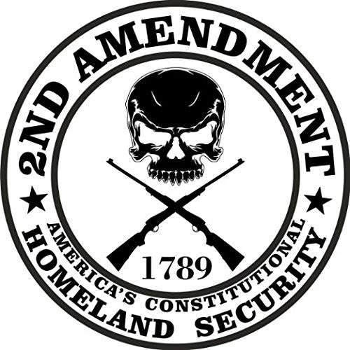 This is our 2nd Amendment Decal Sticker perfect for car windows, mugs, Yeti cups and electronics.