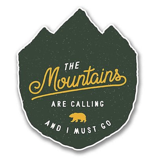 picture of our the mountains are calling and i must go decal for jeeps.