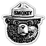 Smoky Bear Sticker Decal to add some character to your personal belongings such as computers,IPad, or coffee mug.