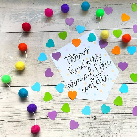 Be Your Own Rainbow Felt Ball Garland