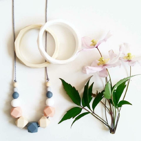 Silicone Teething Necklace - Spring