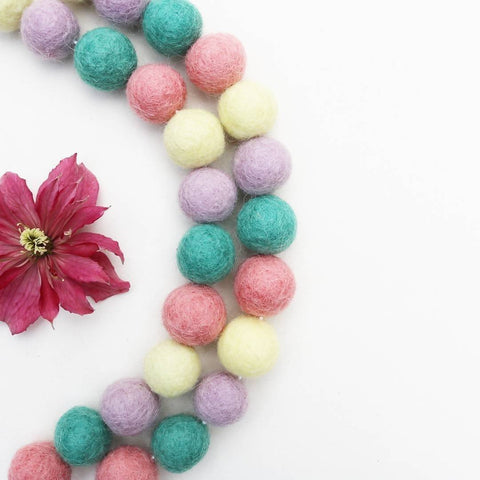It Must be Spring Felt Ball Garland