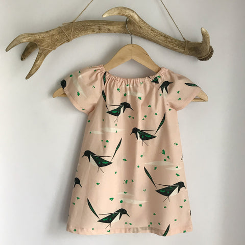 Magpie cotton toddler dress