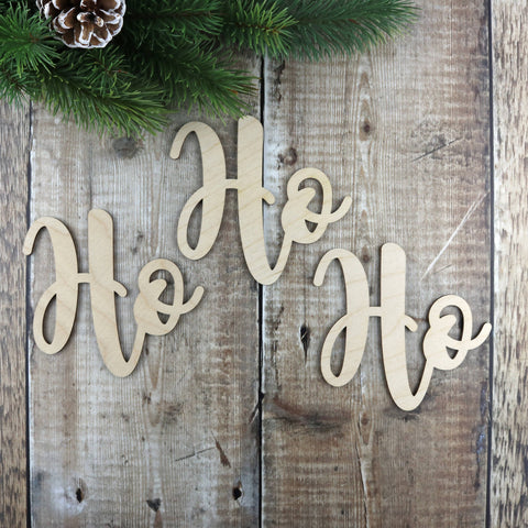 Wooden Word Sign - Ho Ho Ho
