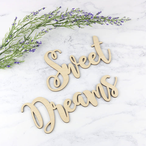Wooden Word Sign - Sweet Dreams