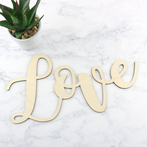 Wooden Word Sign - Love