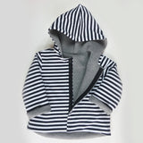 Reversible kid's jacket - thick jersey - Stripes
