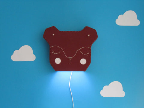Bear LED Wall Light - Mr Lionel Brown