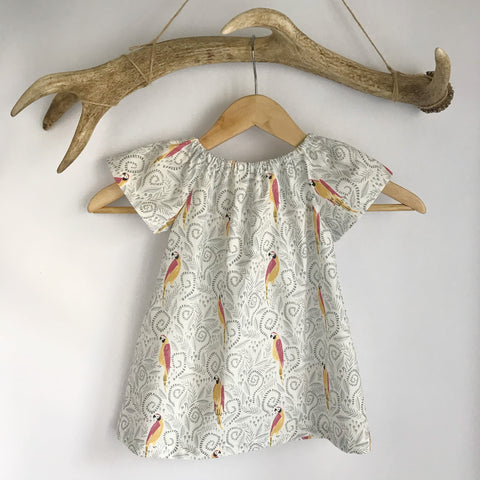 Parrot Cotton Toddler Dress