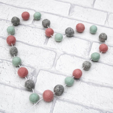 Effortlessly Luxe Felt Ball Garland