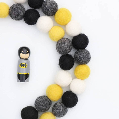 Bee Yourself Felt Ball Garland