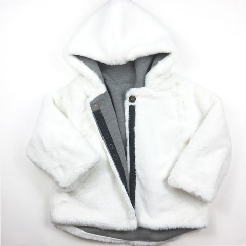 Reversible Jacket Faux Fur and Jersey