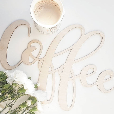 Wooden Word Sign - Coffee