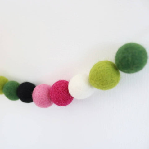 One in a Melon Felt Ball Garland