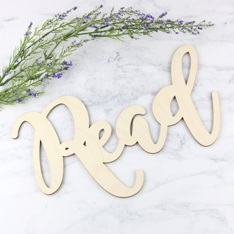 Wooden Word Sign - Read
