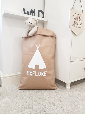 Explore - Paper Storage Bag