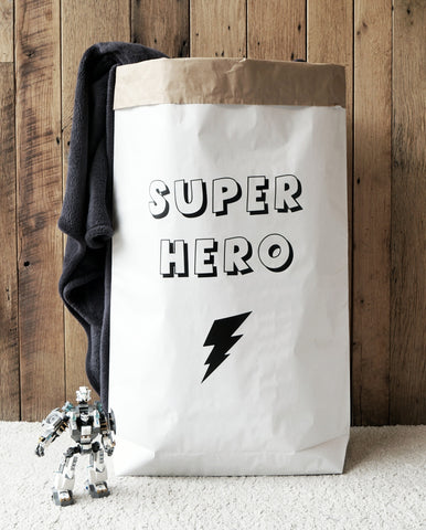 Superhero - Paper Storage Bag