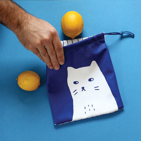 Superhero Collective - Drawstring Snack Bag - Grumpy Cat