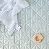 Camile Quilted baby play blanket in Jade