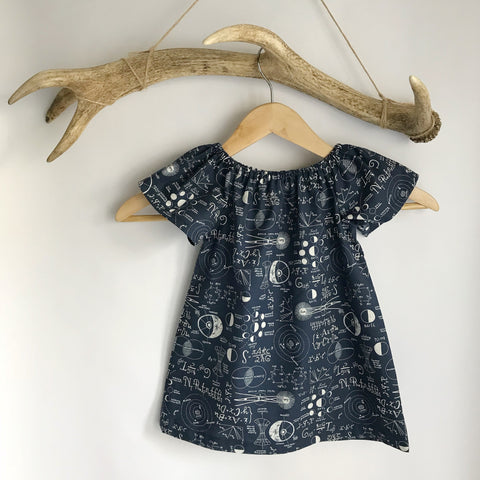 Chalkboard toddler cotton dress