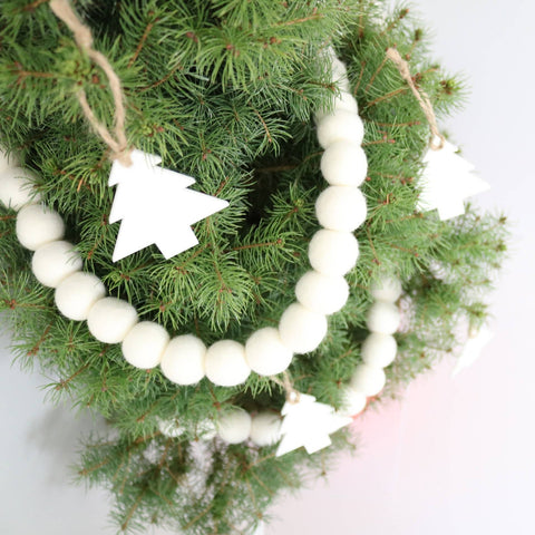 Walking in a Winter Wonderland Felt Ball Garland