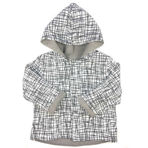 Reversible kid's jacket - thick jersey - Luna