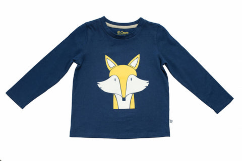 Felix Fox T-shirt - Navy