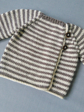 Newborn hand knit cardigan