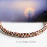 HANDMADE KNOTS LUCKY ROPE BRACELET ( 7 Colors Holy Light of Buddha )