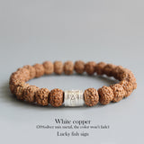 Lucky Fish Sign Rudraksha bracelet